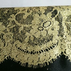 Retro black lace Clutch bag